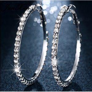 ❤LAST ONE❤️Rhinestone hoop earringsValentine's Day